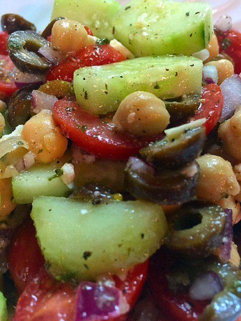 Greek Garbanzo Bean Salad Recipe