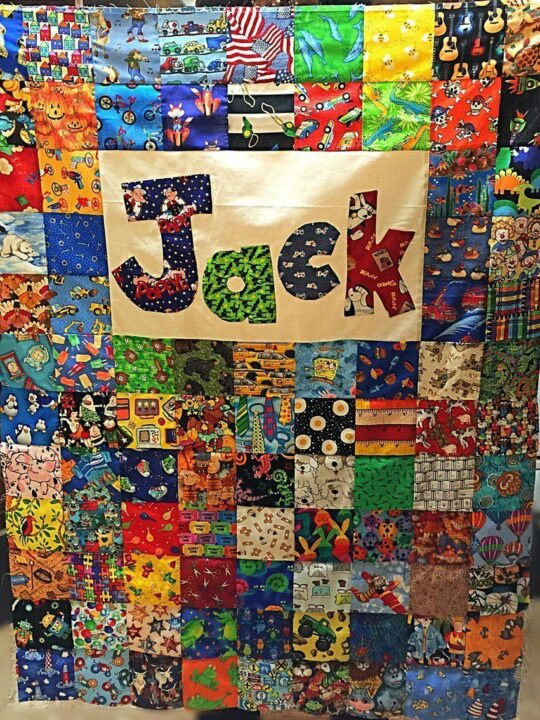 Jacks I Spy Baby Quilt Top