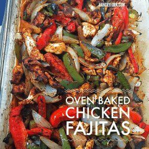 Oven Bake dChicken Fajitas for a Crowd