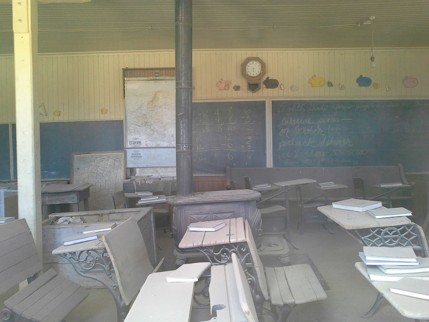Bodie California Ghost Town Inside Schoolhouse