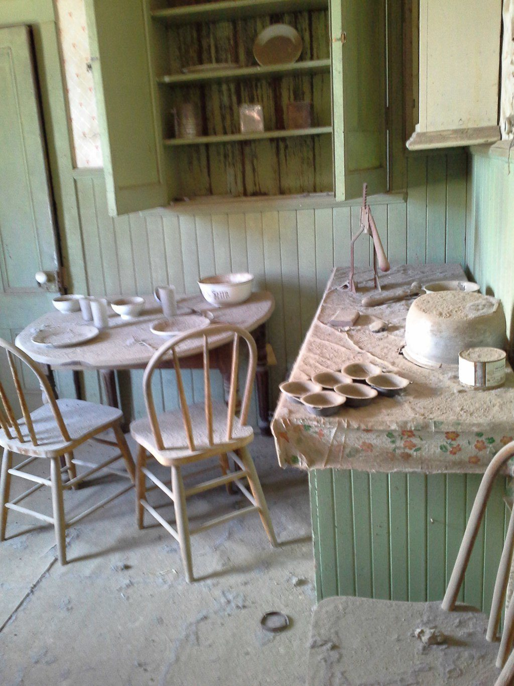 Bodie CA Ghost Town Inside House