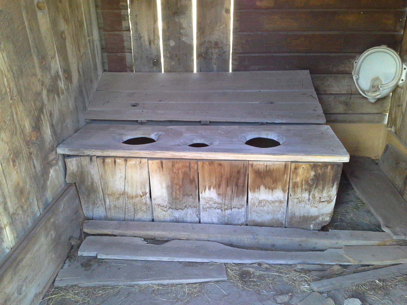 California Ghost Town Outhouse