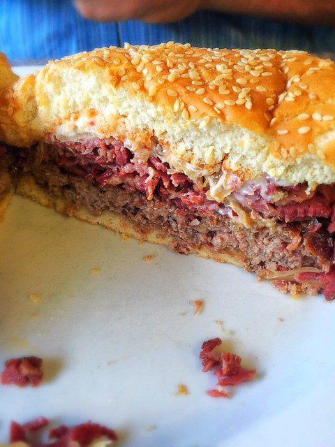Sanducci's Cottage Reuben Burger