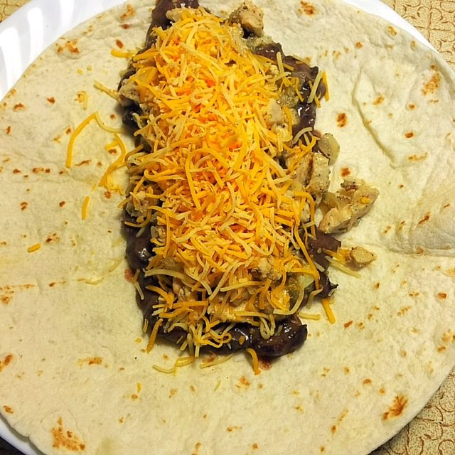 Black Bean Cheese Burritos
