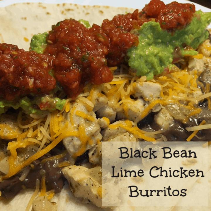 Black Bean Lime Chicken Burritos