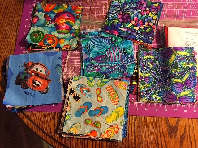 Fabric Squares From eBay