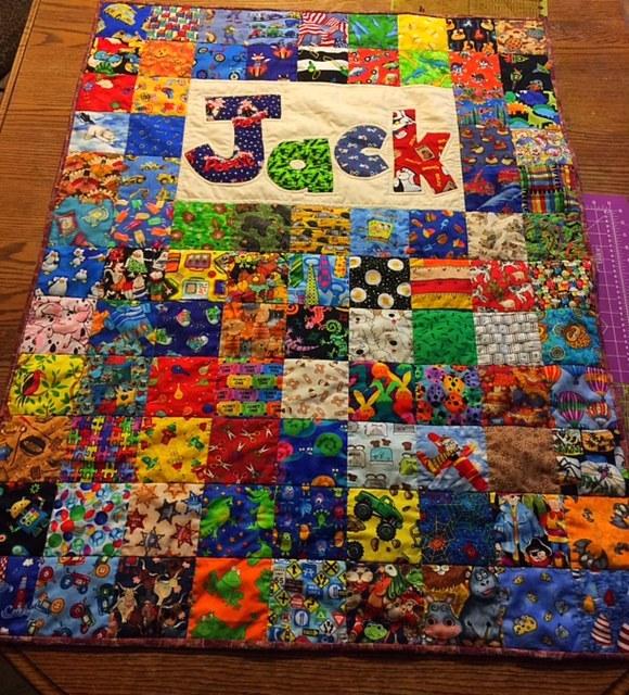 Jack's I Spy Baby Quilt Finished