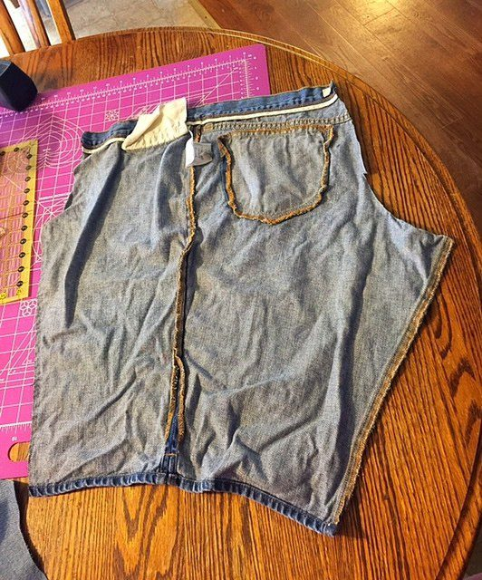 Old Jeans Cut Up Upcycled