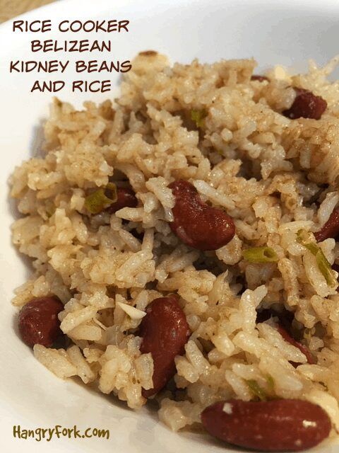 Rice Cooker Belizean Kidney Beans and Rice