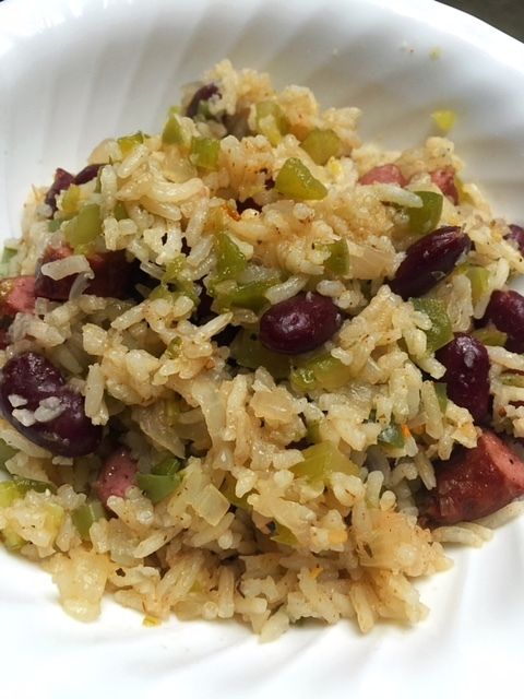 Rice Cooker Cajun Red Beans and Rice