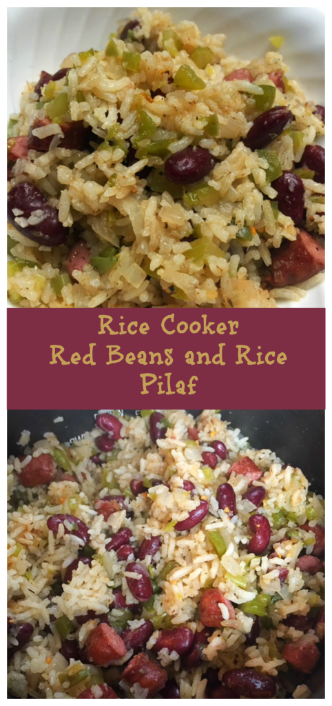 Rice Cooker Red Beans and Rice Pilaf