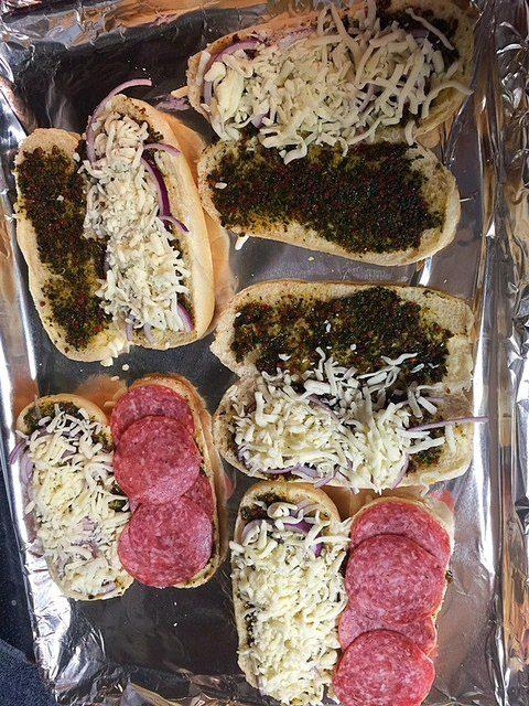 Salami Turkey Mozzarella Cheese Sandwich