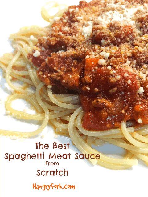 The Best Spaghetti Meat Sauce Recipe From Scratch