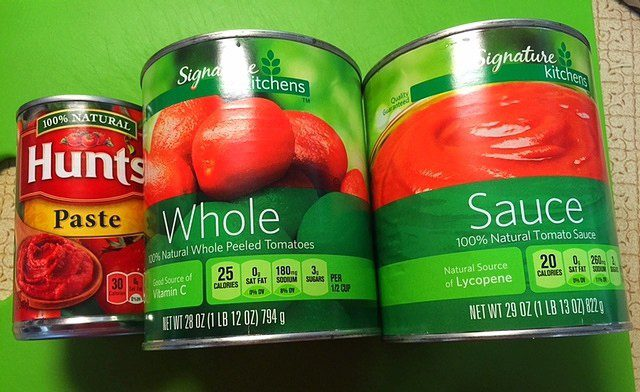 Tomato Products Meat Sauce