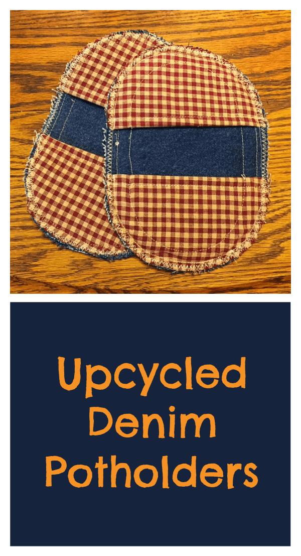 Upcycled Denim Potholders