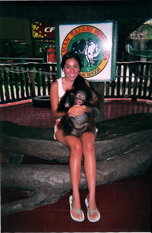 Alyssa with an Orangutan