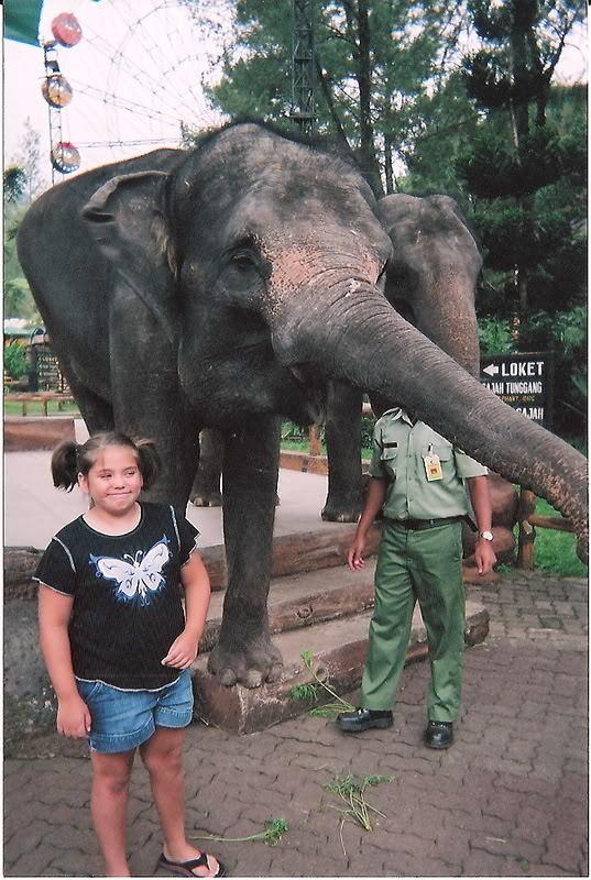 Ashley with an Elephant