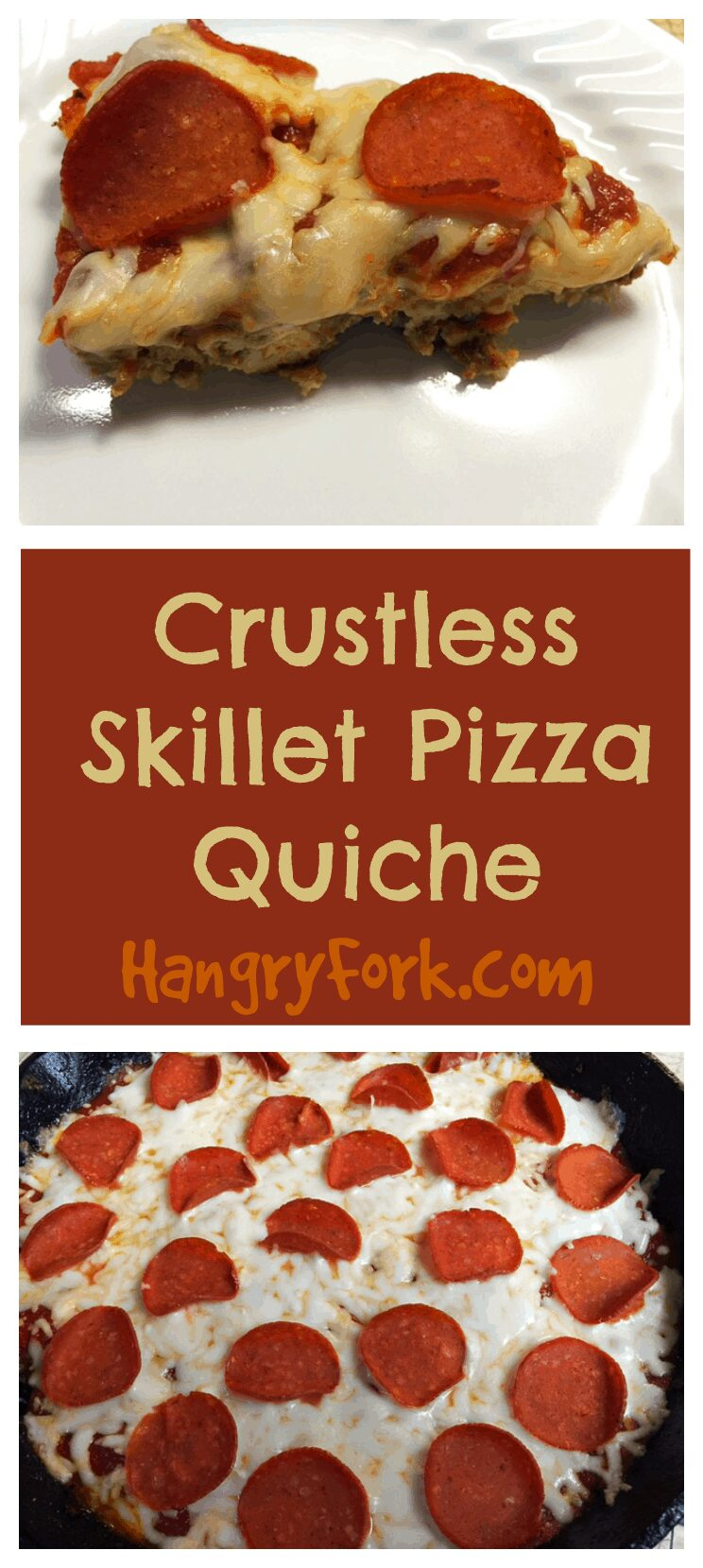 Crustless Skillet Pizza Quiche