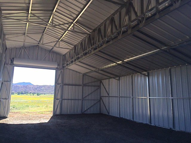 New Metal Barn Valley Fire