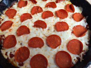 No Crust Skillet Pizza Quiche