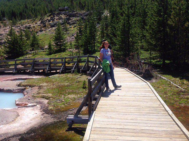 Path at Yellowstone National Park