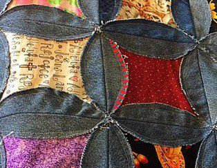 Snipping Free Denim Rag Quilt Pattern