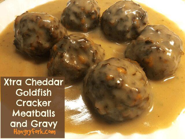 Xtra Cheddar Goldfish Cracker Meatballs