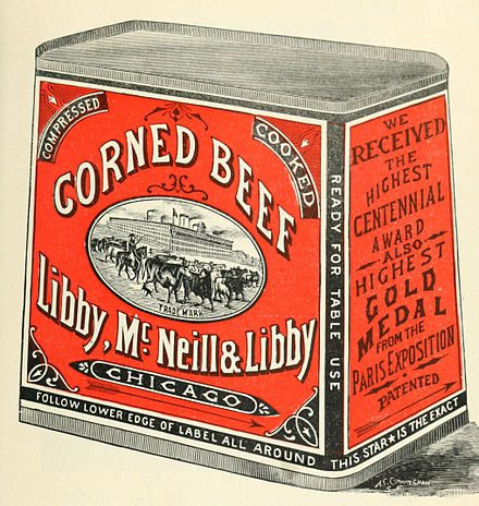 1910 Libby McNeill corned beef