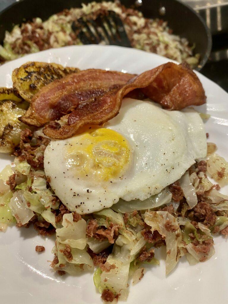 Keto Corn Beef Hash Recipe with Egg