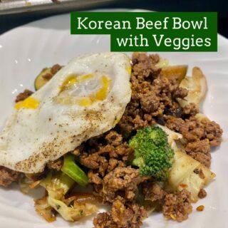 Easy Korean Beef Bowl with Veggies